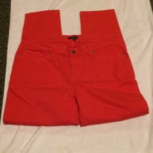 Eileen fisher red pair of jeans